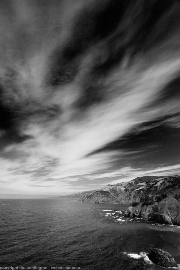 Big Sur in black and white.